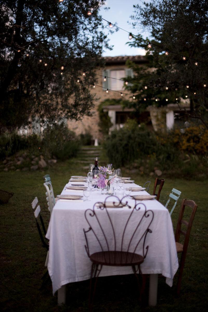 Cena in giardino   Le Molina B&B